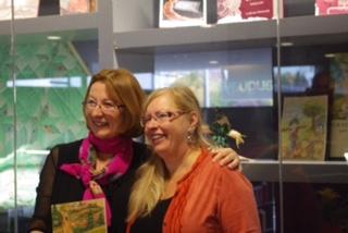 Lorraine Hacquard et Diane Duclos lors du lancement du conte, Graisse-Graissou