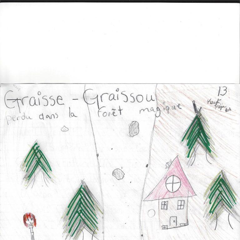 LA FORÊT MAGIQUE, histoire de Kayli Méjia - Graisse-Graissou veut explorer la forêt magique où il découvre sa meilleure amie...