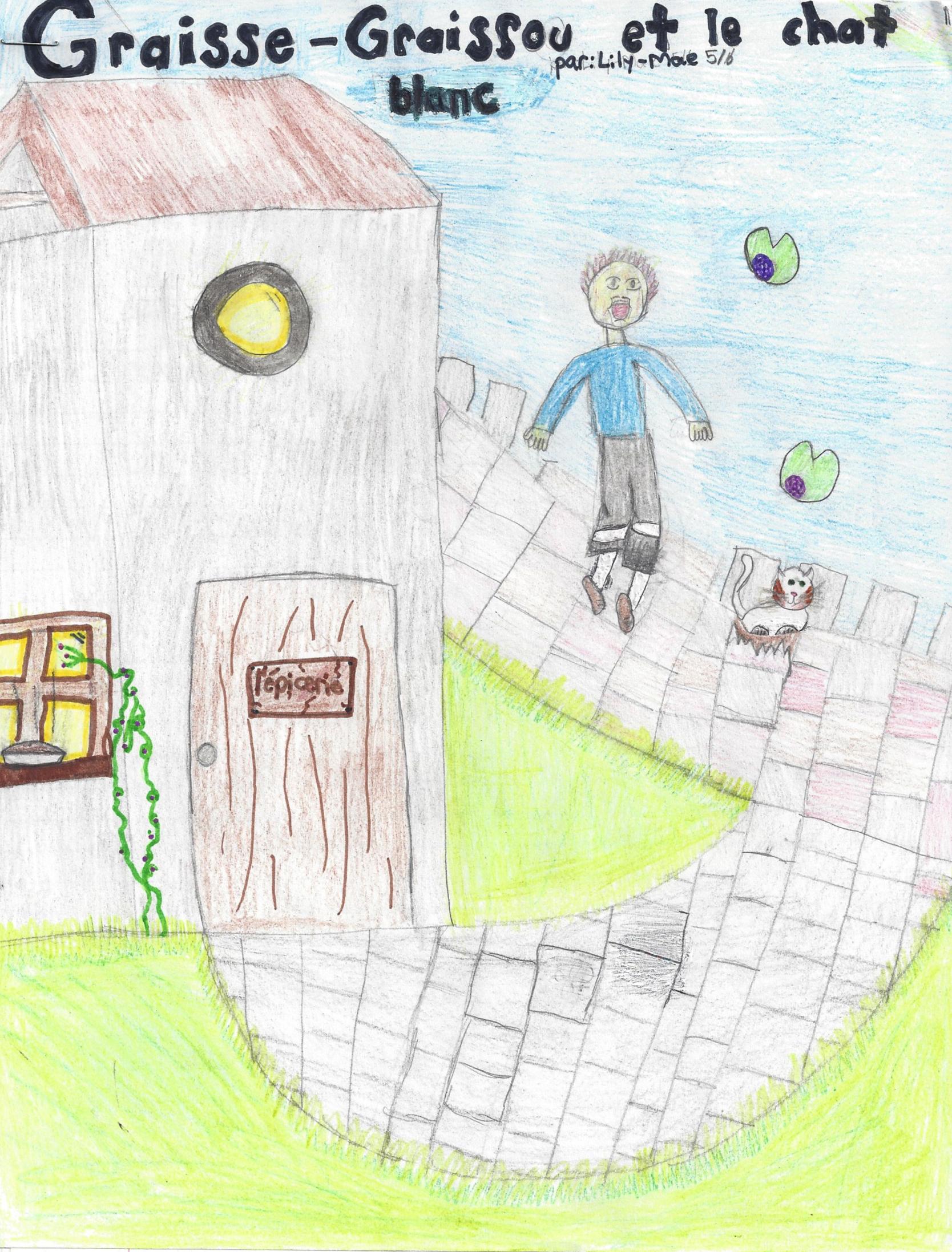LE CHAT BLANC, histoire de Lily-Mae -  Graisse-Graissou veut un chat, mais ses parents refusent.  Il trouve un petit chat blanc qu'il cache chez lui...