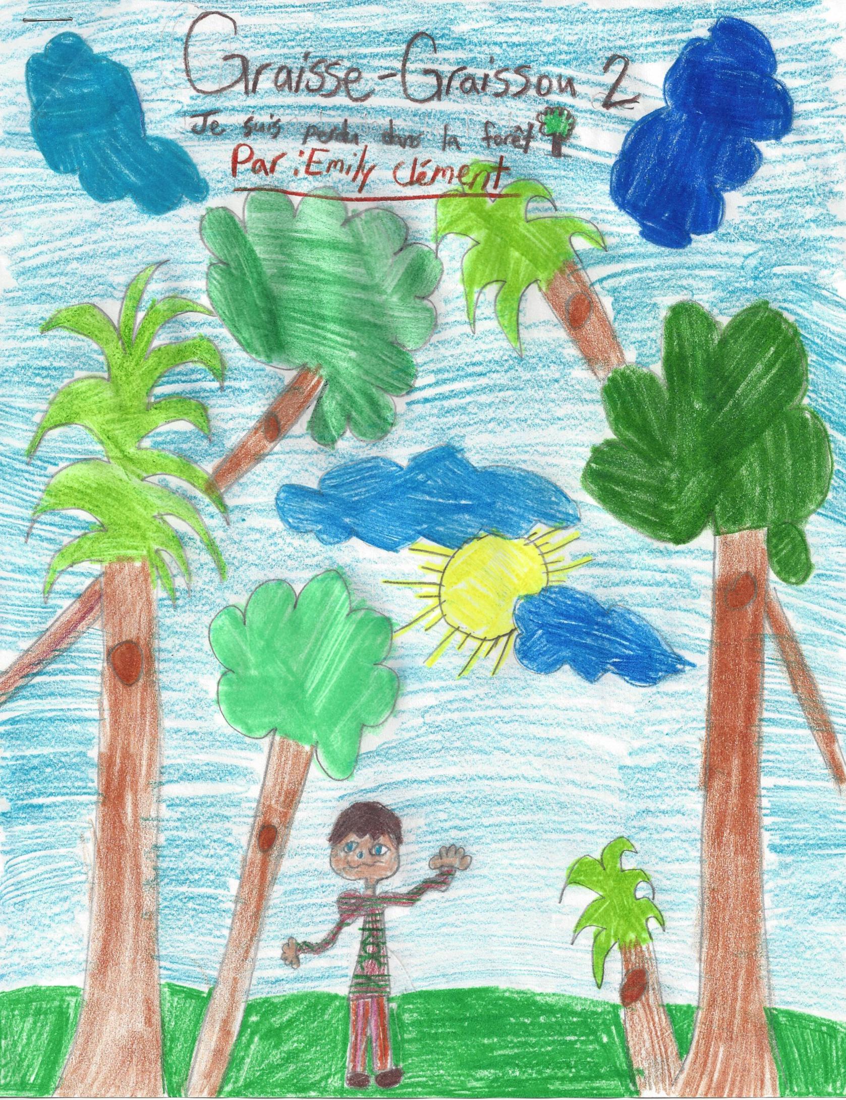 PERDU DANS LA FORÊT, histoire d'Emily Clément -  Graisse-Graissou se trouve une petite amie dans la forêt, mais il se perd en voulant retourner chez lui...