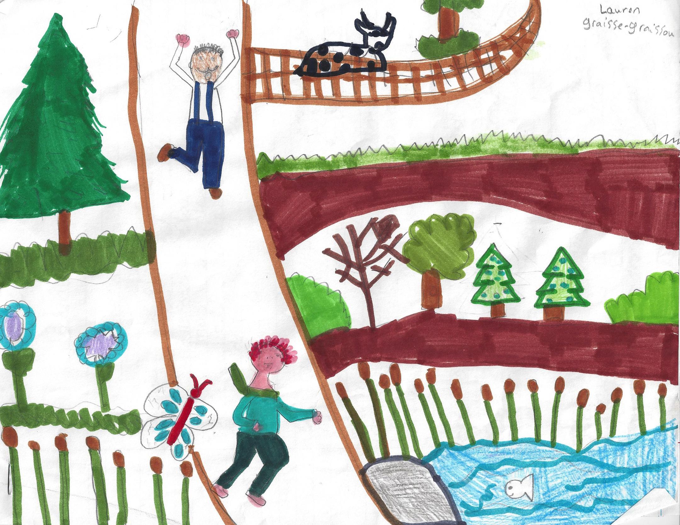 GRAISSE-GRAISSOU TOMBE DANS UN TROU, histoire de Lauren -  En se réveillant, Graisse-Graissou cherche ses parents sur la ferme, mais il trombe dans un trou...